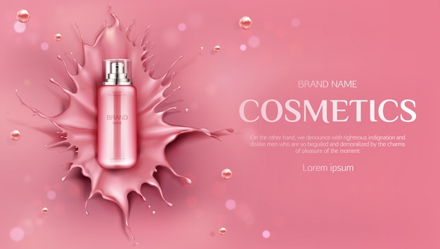 Beauty skin care product banenr Free Vector
