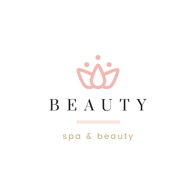 Beauty and spa logo vector Free Vector