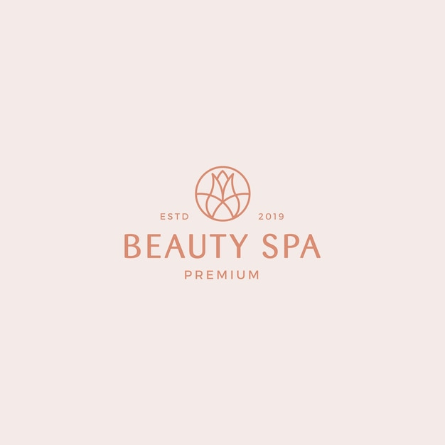 Beauty spa premium logo template Premium Vector