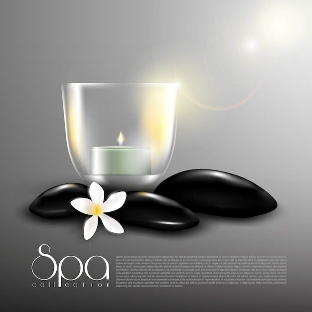 Beauty spa realistic template Free Vector