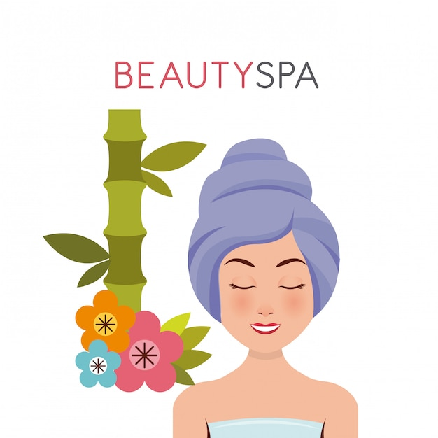 Beauty spa set flat icons Premium Vector