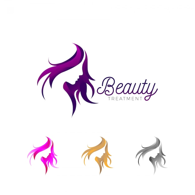 Beauty treatment business logo Premium Vector