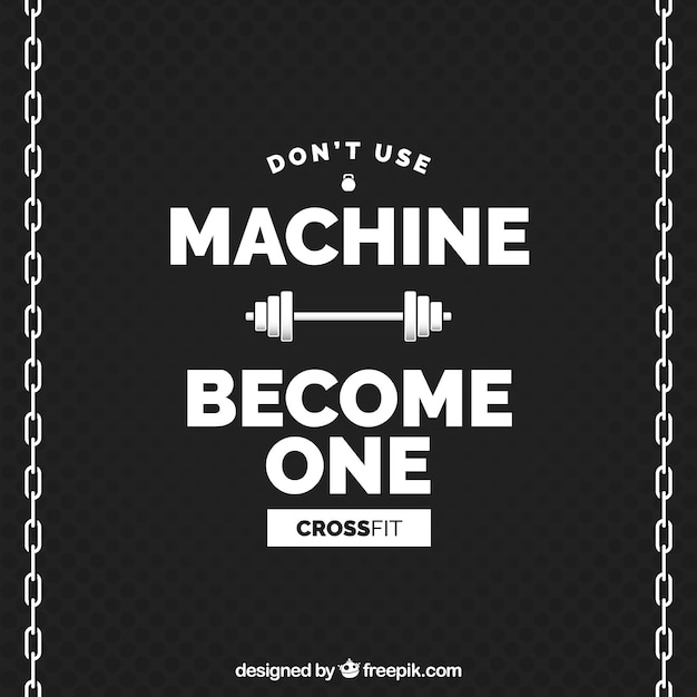 Become Machine Crossfit Background Vector Free Download