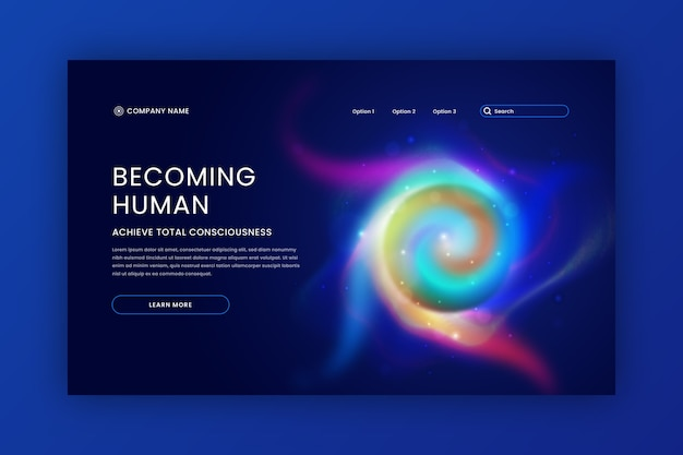 Becoming human delusion landing page Free Vector