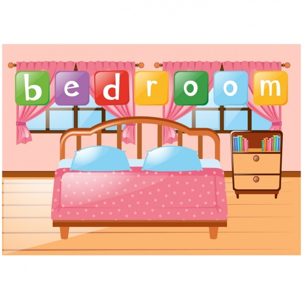 bedroom background design vector free download