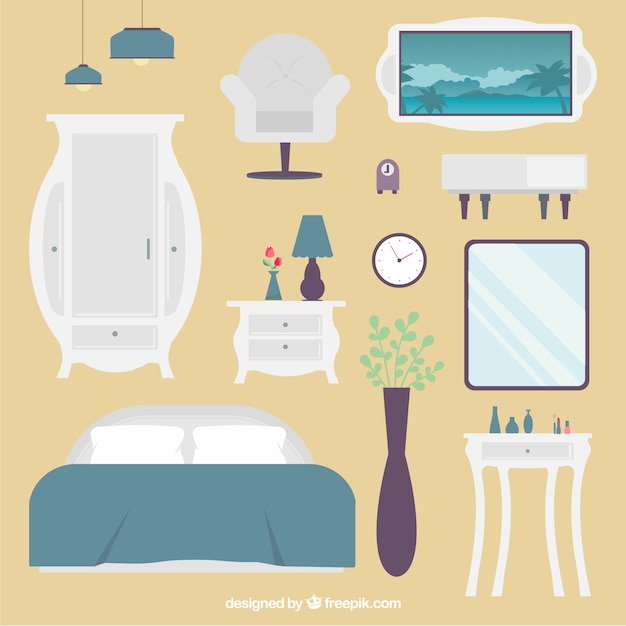 Bedroom Elements Vector