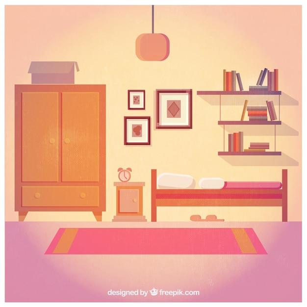 bedroom furniture vector premium download