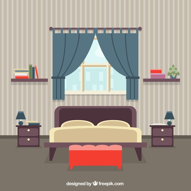 Bedroom interior vector free download Design a bedroom online free