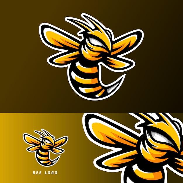 Bee animal esport gaming mascot logo Premium Vector