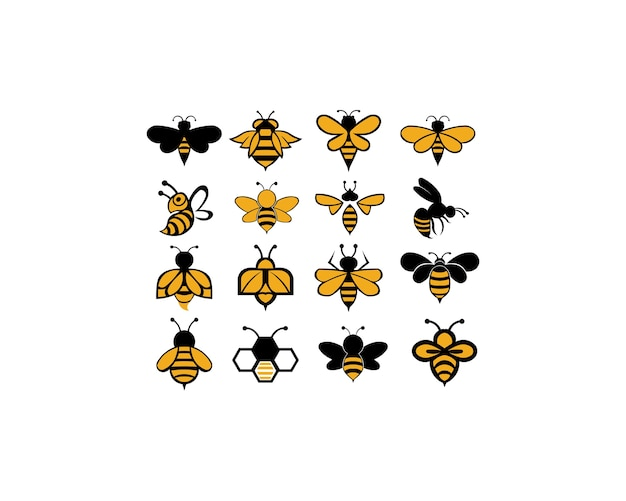 Bee animal icon Premium Vector