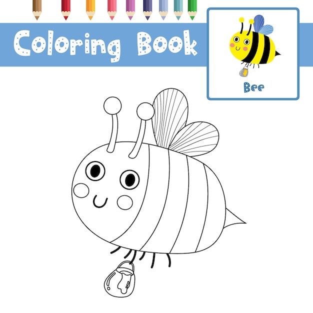 Premium Vector Bee Coloring Page