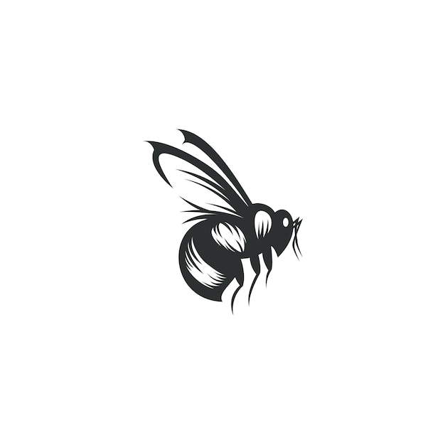 Bee drawing illustration isolated Premium Vector