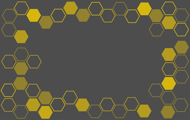 Bee hive background Premium Vector