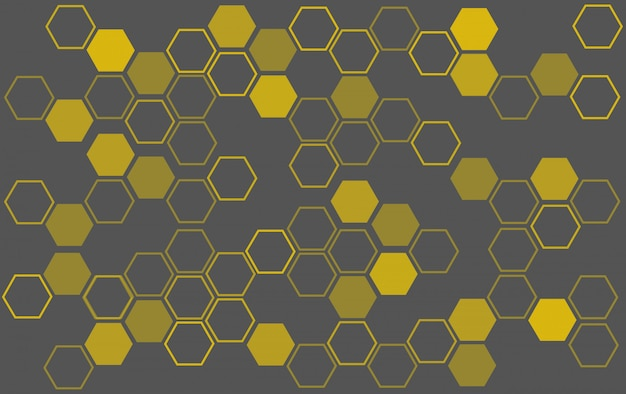 Bee hive background Premium Vector