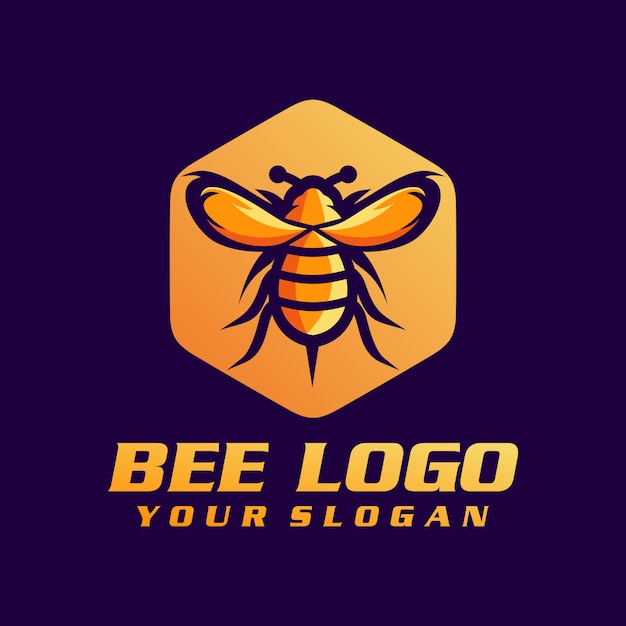 Bee logo vector, template, illustration Premium Vector