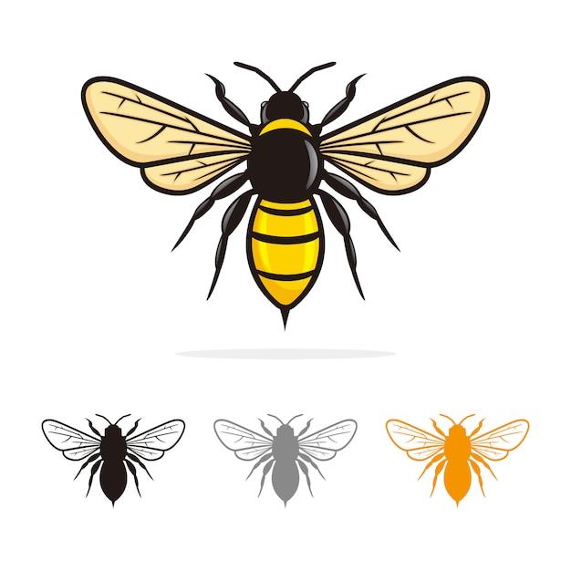 Bee logo vector Premium Vector
