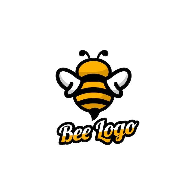 Bee logo Premium Vector