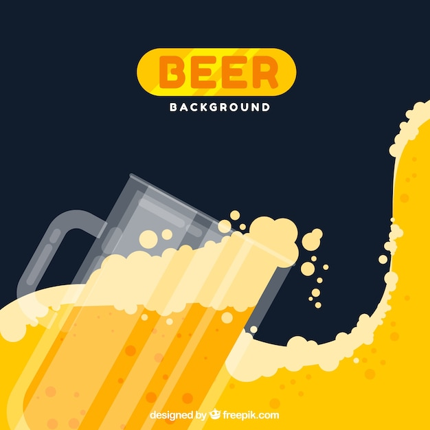 Beer background with jar Free Vector