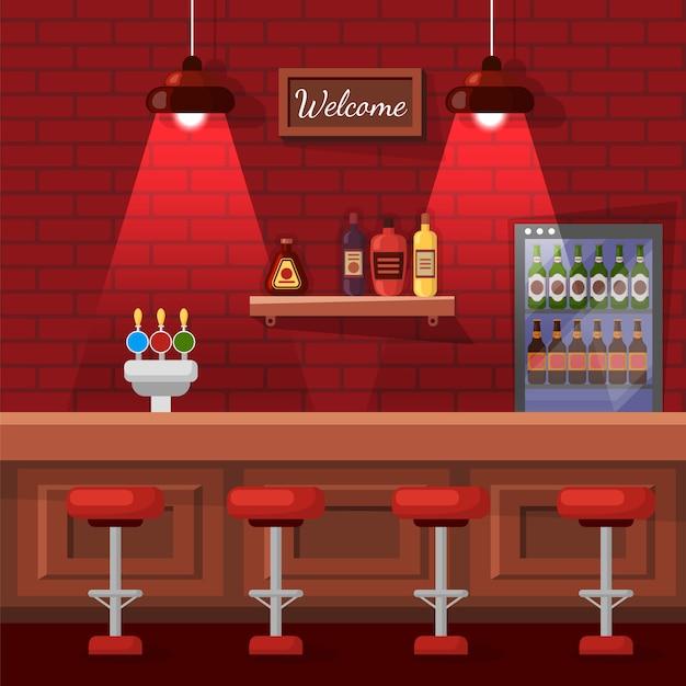 Beer bar place Premium Vector