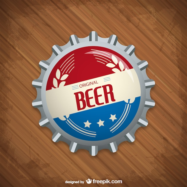 beer bottle cap vector | free download