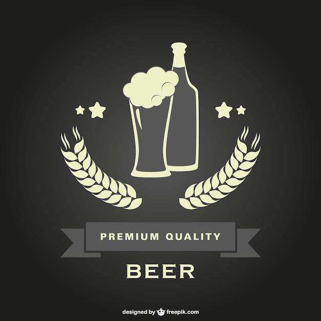 Beer bottle glass deign background Free Vector