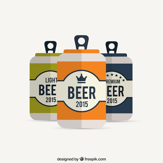 Beer cans Free Vector