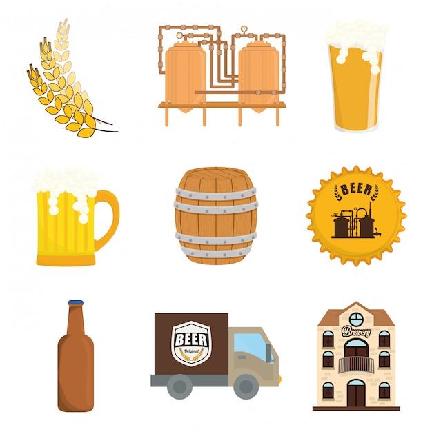 Beer design. illuistration Premium Vector