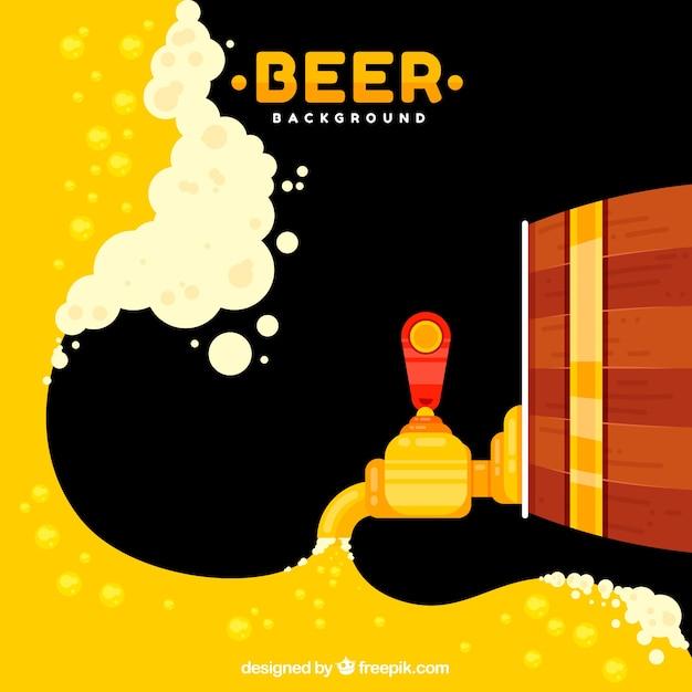 Design della birra con canna Vettore gratuito