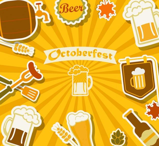 Фестиваль пива - октябрь. Premium векторы