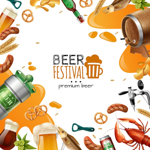 Beer festival template Free Vector