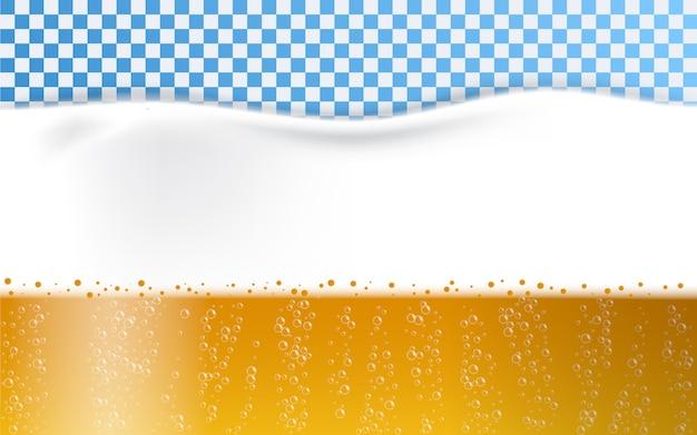 Beer foam bubbles Premium Vector
