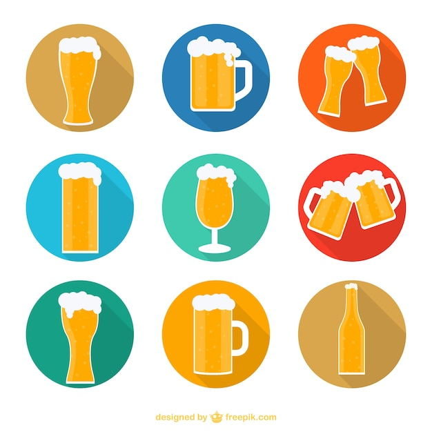 Beer icons Free Vector