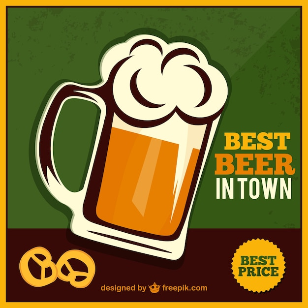 Beer Jar Poster Free Vector