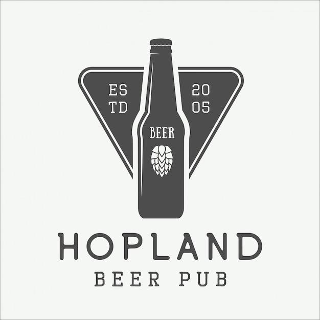 Beer logo Premium Vector