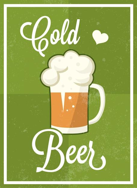 Beer Poster Design Free Vector