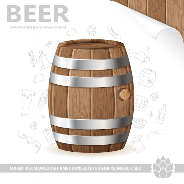 Beer poster Premium Vector