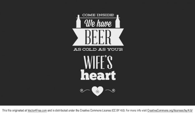 beer typography vector banner vector free download