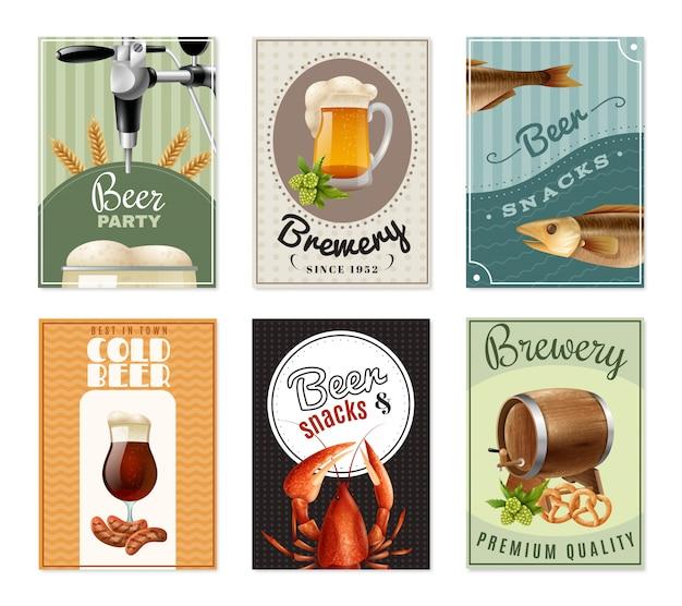 Set di banner verticale di birra Vettore gratuito