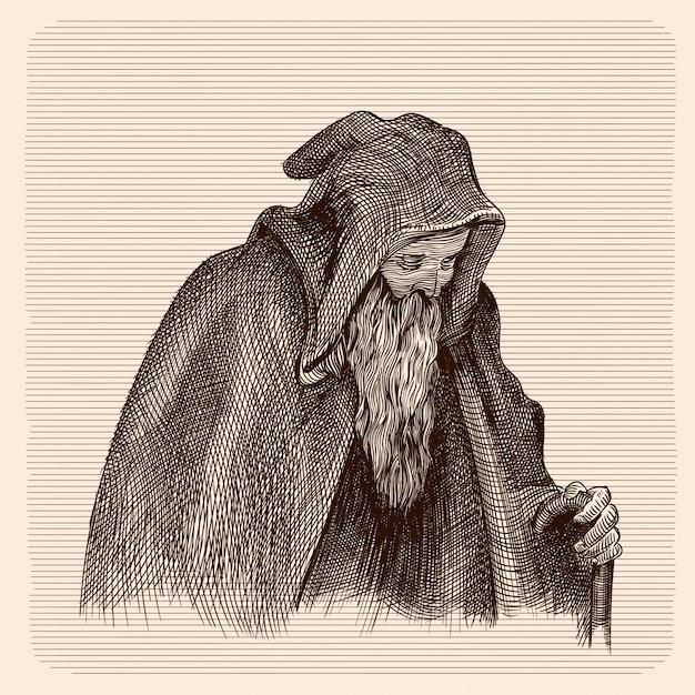 Brumas de Baróvia Beggar-old-man-dark-cloak-hood-with-staff_168440-141