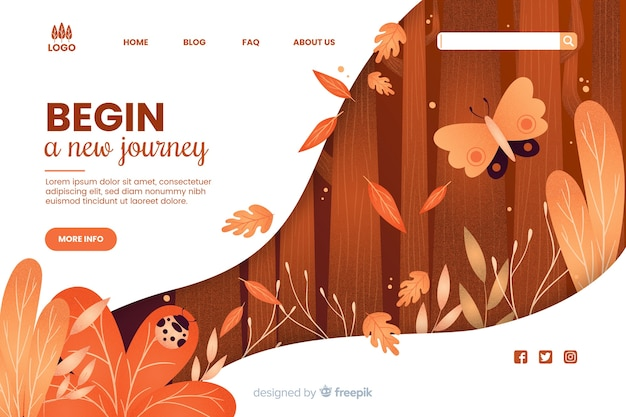Begin a new journey web template Free Vector