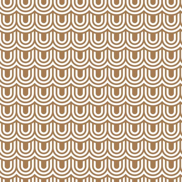 Beige striped flaked seamless pattern Premium Vector