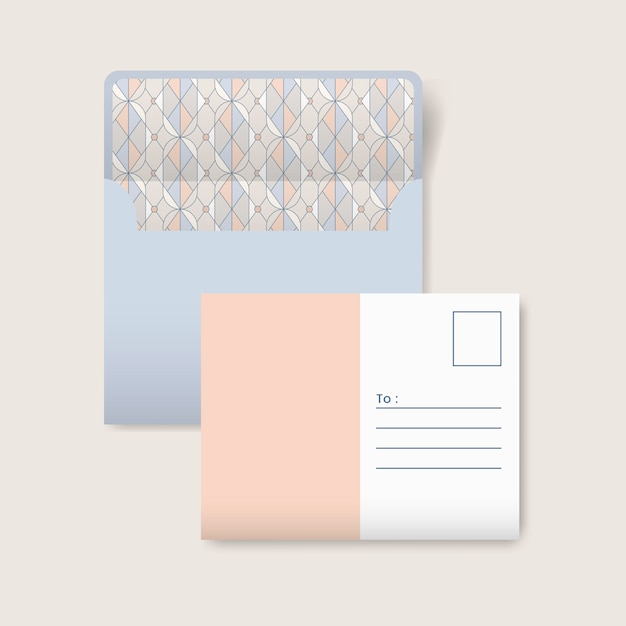 Beige and white postcard Free Vector