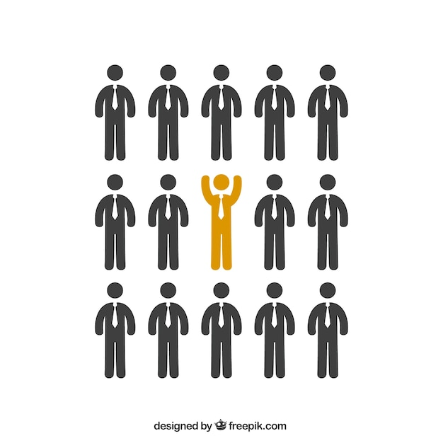 Being different business Free Vector