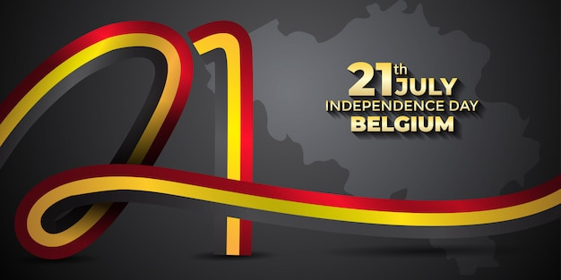 Belgium independence day design template Premium Vector