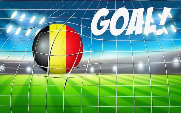 Belgium soccer ball goal concept