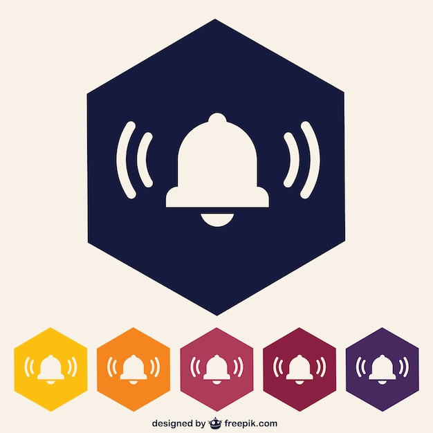 Bell icon pack Free Vector