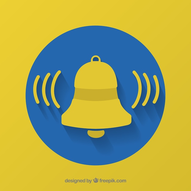 Bell notification background Free Vector