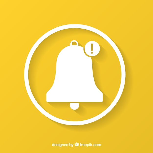 Bell on yellow background Free Vector