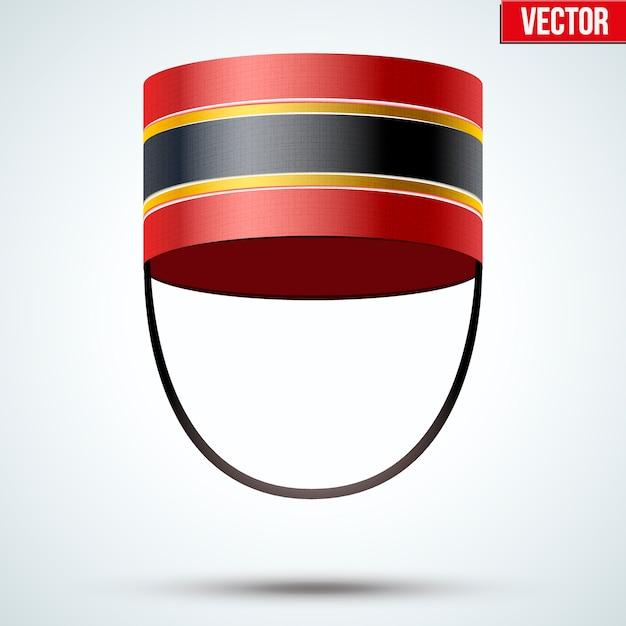 Bellboy hat. hotel resort service symbol.  illustration  on a white background. Premium Vector