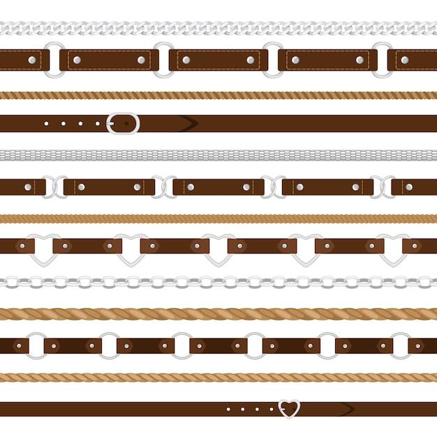 Belts seamless pattern Premium Vector